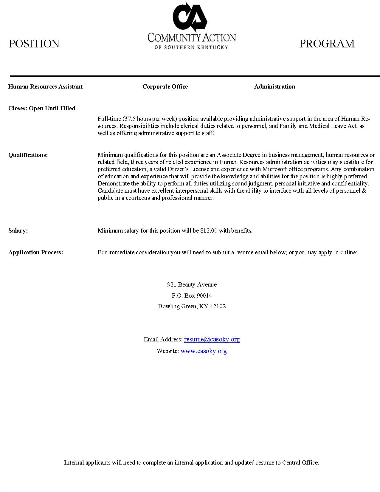 job listings morgantown chamber of commerce hr assistant 2015