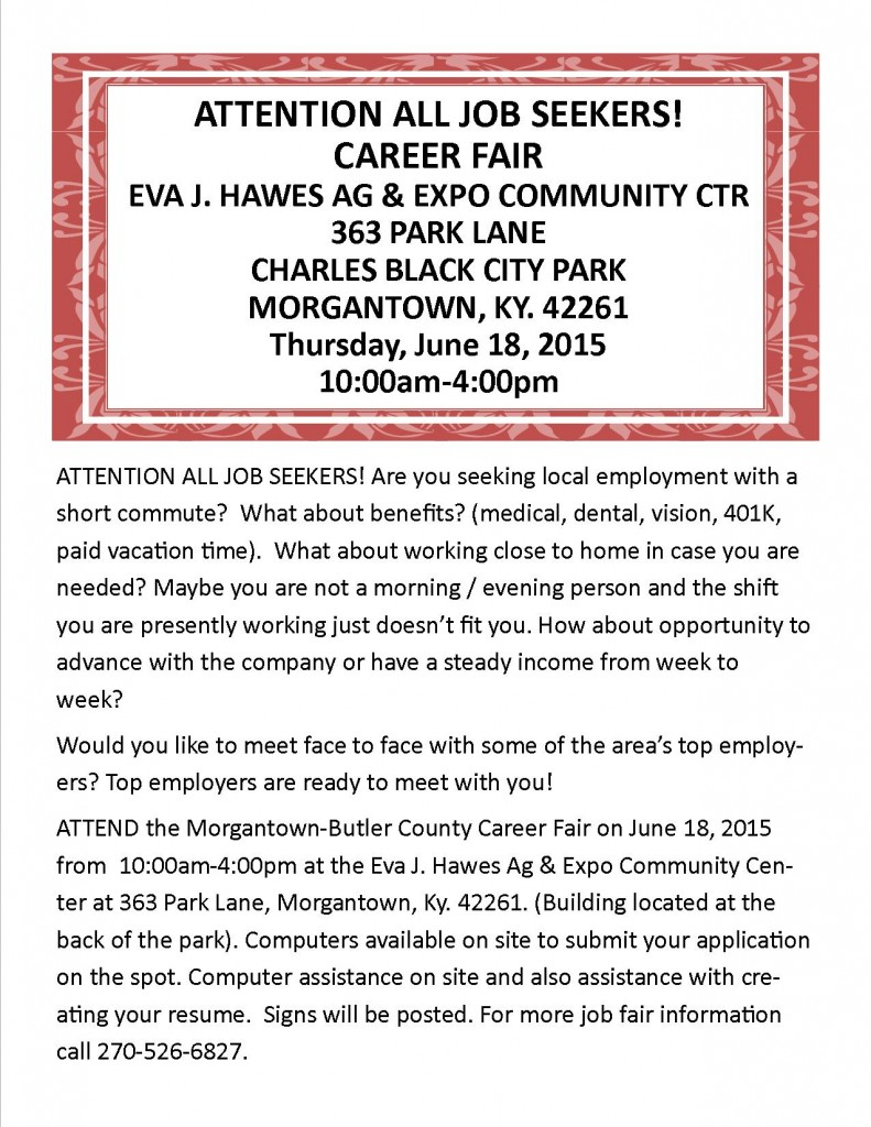 Job Fair Newspaper Ad