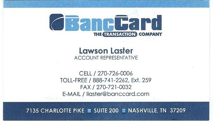 BancCard Lawson Laster
