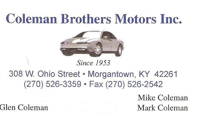Coleman Bros Cars 001
