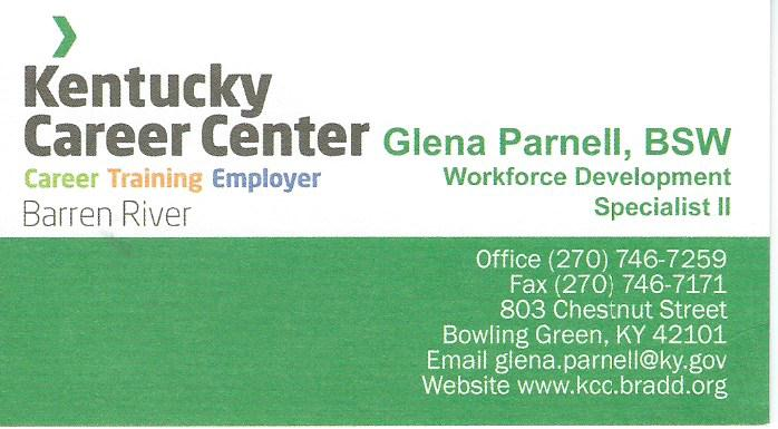 Kentucky Career Center Glena Parnell