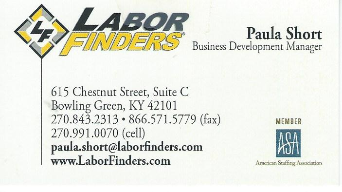 Labor Finders Paula Short