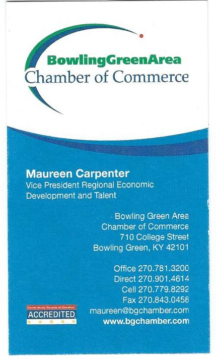 Maureen Carpenter BG Chamber of Commerce