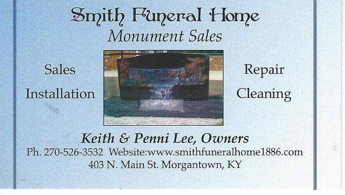 Smith Funeral Home Monument Sales